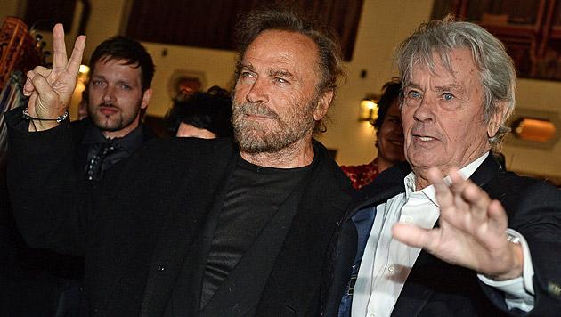 Franco Nero und Alain Delon (Bild: APA/BARBARA GINDL)