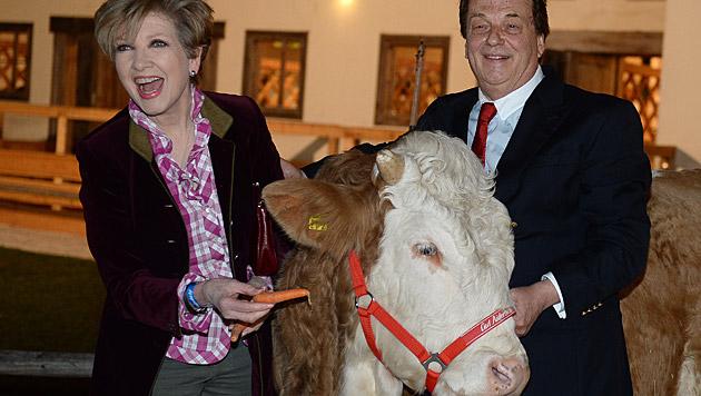Carolin Reiber und Aiderbichl-Chef Michael Aufhauser (Bild: APA/BARBARA GINDL)