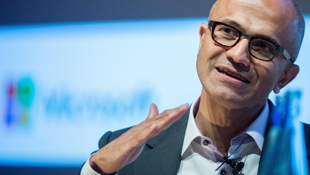 "Nadella: ""Windows 10 ist fundamentaler Sprung"" (Bild: APA/EPA/BERND VON JUTRCZENKA)"