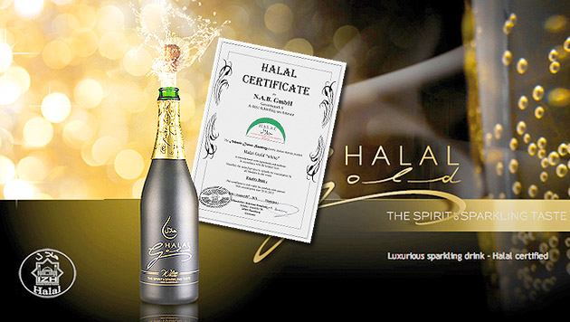 Sekt aus Salzburg hat auch Halal-Zertifikat (Bild: http://www.halal-gold.com)