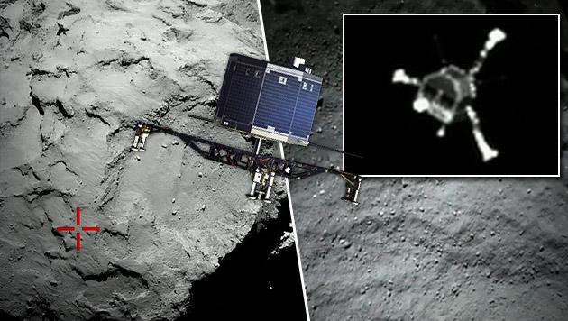 """""""Philae"""" entdeckt: Erstes Foto vom Kometen-Lander (Bild: esa.int, AP)"""