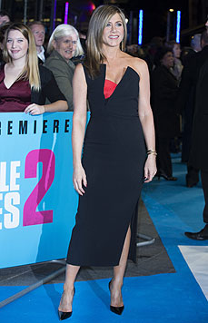 "Jennifer Aniston bei der Premiere ihres Films ""Horrible Bosses 2"" in London (Bild: EPA)"