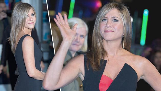 Jennifer Aniston muss sich immer wieder mit Babyfragen herumschlagen. (Bild: APA/EPA/ANDREW COWIE)