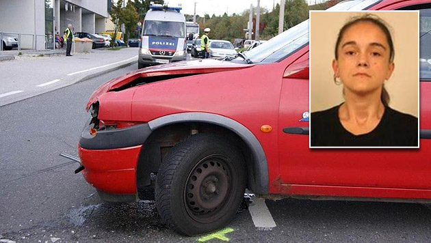 Ein Unfall brachte die Polizei auf die richtige Spur. Nach der 30-Jährigen wird gefahndet. (Bild: Polizei Salzburg)