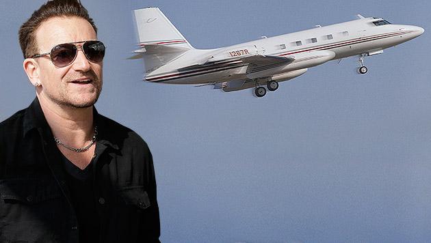 Schreck für Bono: Sein Jet verlor die Heckklappe! (Bild: AP, thinkstockphotos.de, krone.at-Grafik)