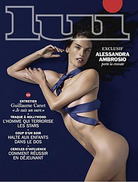 """Alessandra Ambrosio gab fürs Cover-Shooting der """"Lui"""" im wahrsten Sinne das letzte Hemd. (Bild: Lui)"""