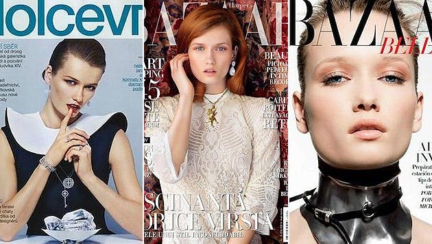 Katerina Netolicka zierte in ihrer Karriere zahlreiche Cover. (Bild: Dolce Vita, Harper's Bazaar)