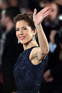 Kronprinzessin Mary von Dänemark verlieh der Verleihung Glanz und Glamour. (Bild: EPA)