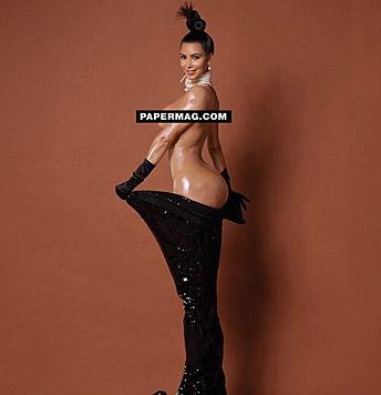 Die heißen Fotos von Kim Kardashian sollten das Internet sprengen. (Bild: instagram.com/papermagazine)
