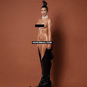 Aber nicht nur von hinten, sondern auch von vorne präsentierte sich Kim Kardashian in voller Pracht. (Bild: instagram.com/papermagazine)
