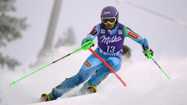 Die Siegerin: Tina Maze (Bild: AP)