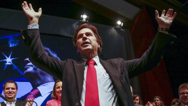 Steiermark: 96,29 Prozent Zustimmung für Voves (Bild: APA/ERWIN SCHERIAU)