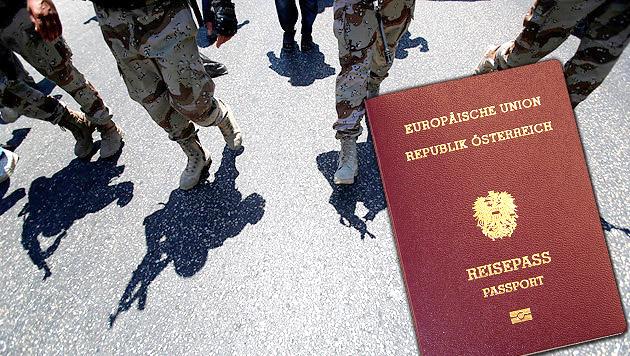 Banden verkaufen Pässe an Terroristen (Bild: AP, Martin A. Jöchl)