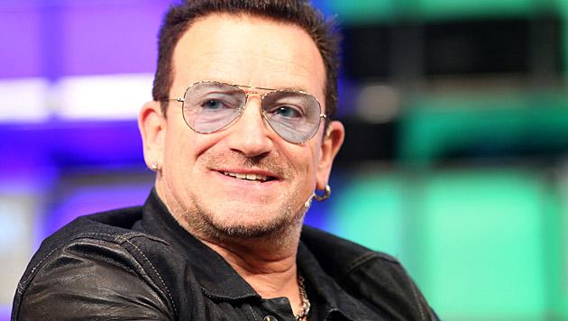 Bono hat sich bei einem Sturz mit dem Fahrrad verletzt. (Bild: APA/EPA/PAUL MCERLANE)