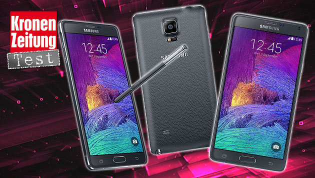 Galaxy Note 4: Handy-Riese mit Traum-Display (Bild: Samsung, thinkstockphotos.de, krone.at-Grafik)
