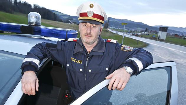 Bezirksinspektor Martin Laubichler war bei der Verfolgungsjagd dabei. (Bild: MARKUS TSCHEPP)
