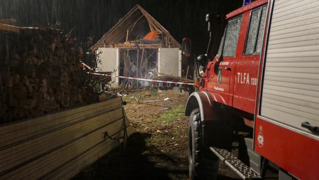 Hausexplosion in Kapfenstein in der Steiermark (Bild: APA/ERWIN SCHERIAU)