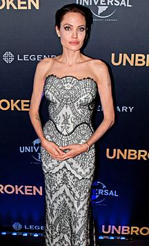 Eingefallene Wangen und spitze Schlüsselbeine: Gesund schaut Angelina Jolie nicht mehr aus. (Bild: AFP)