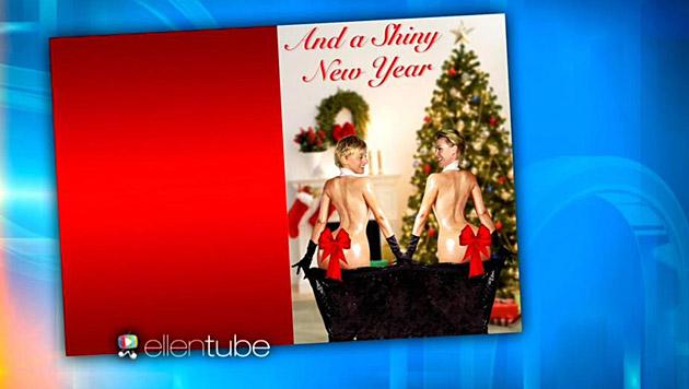 """Ob sich Ellen DeGeneres"""" Freunde über diese Weihnachtskarte freuen werden? (Bild: YouTube.com)"""