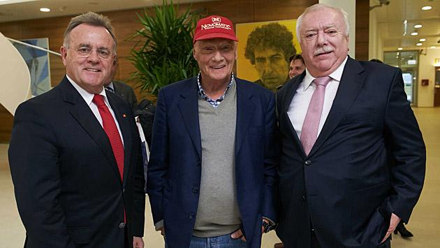 Hans Niessl, Niki Lauda, Michael Häupl (Bild: Alexander Tuma)