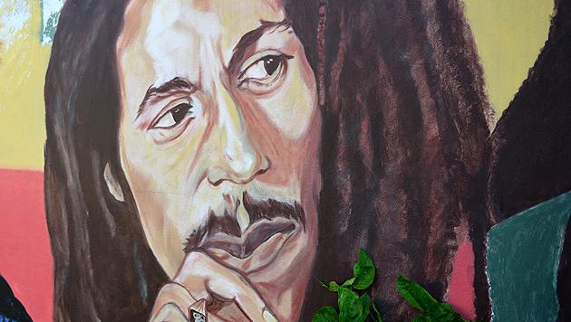 Bob Marley lebt - als Markendroge in den USA (Bild: AP)