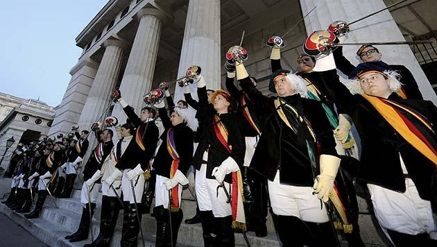 Burschenschaften: ÖH will jede Woche demonstrieren (Bild: APA/Herbert P. Oczeret)