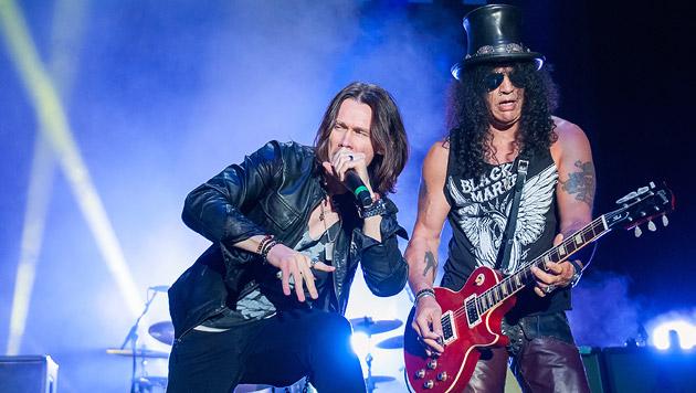 """""""Seine Hutheit"""" Slash regierte am Rock-Thron (Bild: Andreas Graf)"""