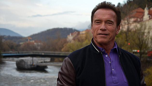 Arnold Schwarzenegger auf Geheim-Besuch in Graz (Bild: Christian Jauschowetz)