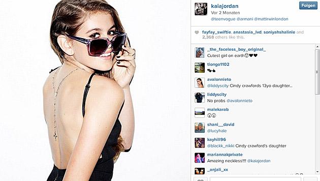 "Kess! Kaia Gerber für die ""Teen Vogue"" (Bild: instagram.com/kaiajordan)"