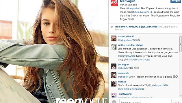 """Für die """"Teen Vogue"""" stand die 13-Jährige jetzt vor der Kamera. (Bild: instagram.com/teenvogue)"""