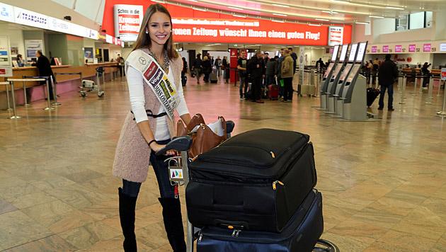 Mit Übergepäck startet Julia Furdea nach London. (Bild: Kristian Bissuti)