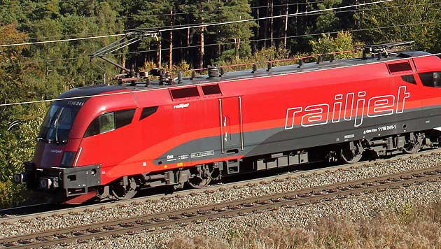 ÖBB-Hochgeschwindigkeitszug Railjet (Bild: APA/ERICH NÄHRER/ÖBB)