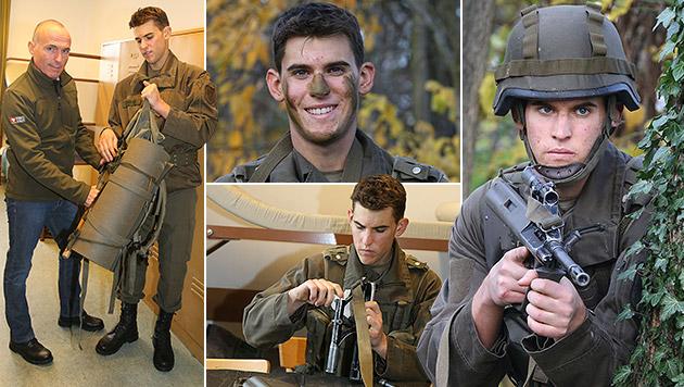 """Soldat Dominic Thiem: """"Lässige Erfahrung"""" (Bild: Kristian Bissuti, krone.at-Grafik)"""
