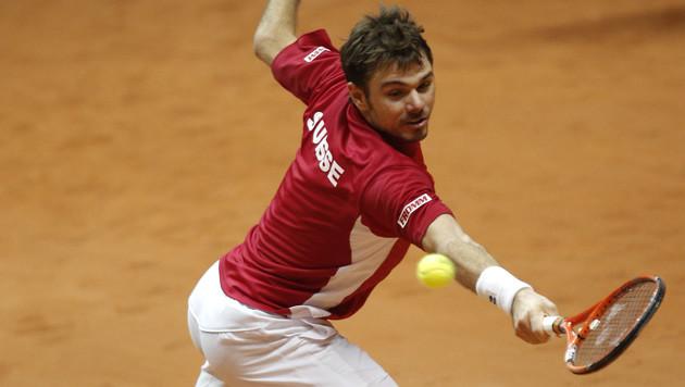 Federer nicht bei Kräften! 1:1 im Davis-Cup-Finale (Bild: AP)