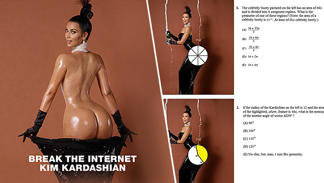 Kim Kardashians Po hilft bei Mathematik (Bild: AP)