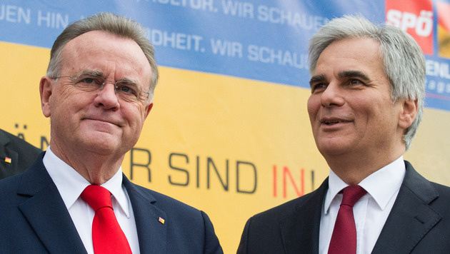 Burgendlands Landeshauptmann Hans Niessl und Bundeskanzler Werner Faymann (Bild: APA/EXPA/MICHAEL GRUBER)