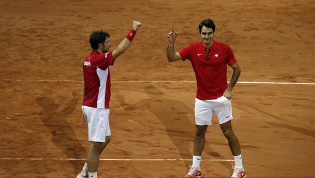 Schweizer stehen vor erstmaligem Triumph (Bild: AP)