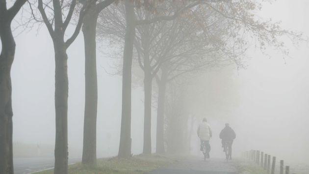 Dichter Nebel zieht über weite Teile Österreichs (Bild: dpa/A3430 Bernd Thissen)