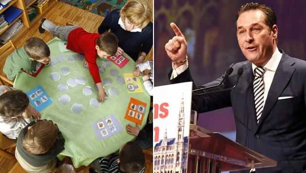 Islamisierung: FPÖ will Kontrollen in Kindergärten (Bild: APA/Harald Schneider, Herbert P. Oczeret)