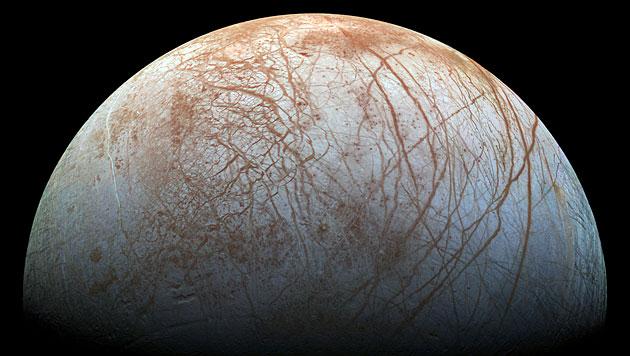 Der Jupitermond Europa (Bild: NASA/JPL-Caltech/SETI Institute)