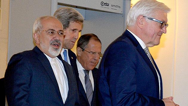 Kerry, Lawrow und Co. standen in den vergangenen Tagen in Wien im Fokus der internationalen Medien. (Bild: APA/ROLAND SCHLAGER)
