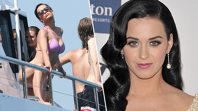 Katy Perry tankt Sonne auf Luxusjacht (Bild: AP, splash news)