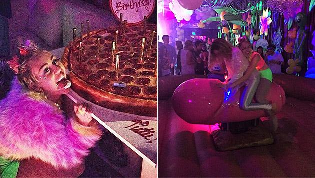 Miley Cyrus ließ es zu ihrem 22er so richtig krachen. (Bild: instagram.com/mileycyrus)