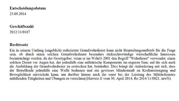 Profi-Balletttänzer muss nicht zum Bundesheer (Bild: Rechtsinformationssystem Bundeskanzleramt Österreich)