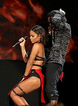 Da wurde nicht nur Rapper Lil Wayne heiß! (Bild: Matt Sayles/Invision/AP)
