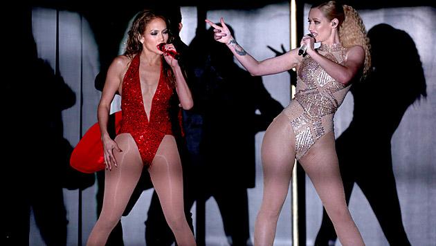 "Heiß! J.Lo und Iggy Azalea im ""Booty""-Battle (Bild: Matt Sayles/Invision/AP)"
