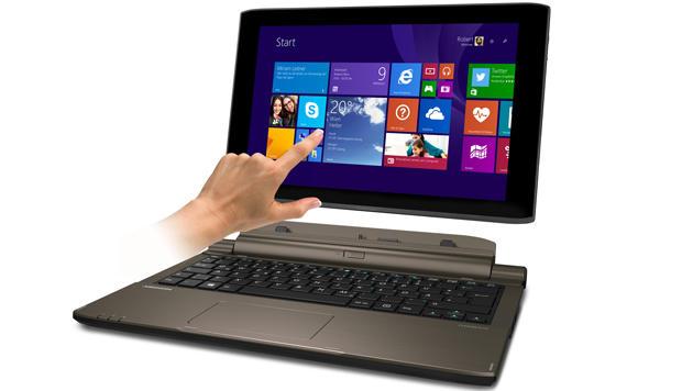 Windows-Tablet mit Tastatur demnächst bei Hofer (Bild: Medion)