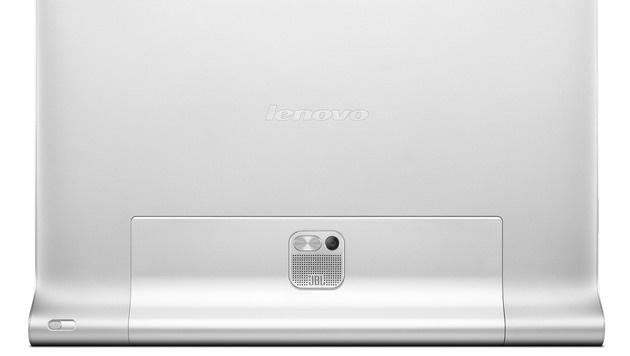 Über einen Knopf neben der Webcam lässt sich der Standfuß ausklappen. (Bild: Lenovo)