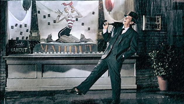 """Als Gene Kelly in """"Singing in the Rain"""" ist Viktor Gernot im Kalender zu sehen. (Bild: Manfred Baumann)"""