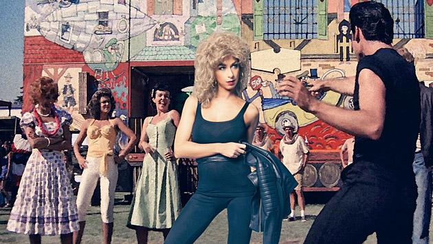 """Dancer Against Cancer""-Lady Yvonne Rueff als Olivia Newton John in ""Grease"". (Bild: Manfred Baumann)"